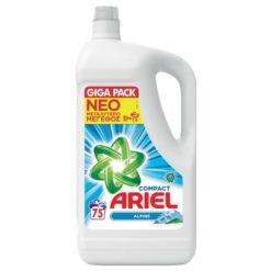 Απορρυπαντικό Πλυντηρίου Υγρό Alpine Ariel (75 μεζ)