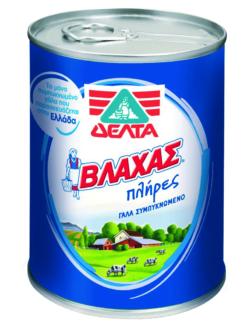 Γάλα Συμπυκνωμένο Βλάχας Πλήρες Δελτα (410g)