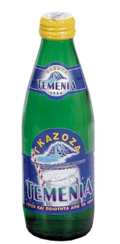 Γκαζόζα Γυάλινη Φιάλη Τεμένια (250 ml)