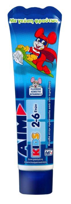 Οδοντόκρεμα Kids 2-6 ετών Aim (50 ml)