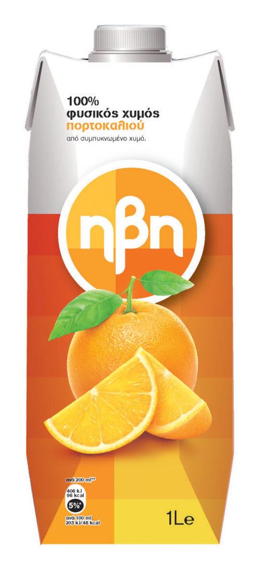 Χυμός Πορτοκάλι 100% Ήβη (1 lt)