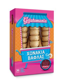 Χωνάκια Βάφλας 36 τεμ Gelatomania (115 g)