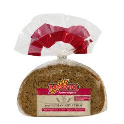 Ψωμί Γερμανικού τύπου πολύσπορο με σίκαλη & βρώμη ολικής άλεσης Κατσέλης (500 g)