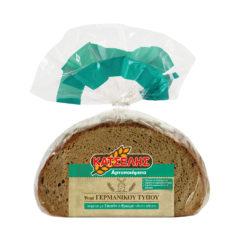 Ψωμί Γερμανικού τύπου σταρένιο με σίκαλη & βρώμη ολικής άλεσης Κατσέλης (500 g)
