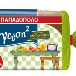 """Ψωμί για Τοστ Ολικής Άλεσης & Σίκαλης """"Γεύση2"""" Παπαδοπούλου (350 g)"""