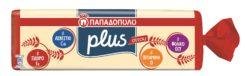 Ψωμί για τοστ σταρένιο Plus Παπαδοπούλου (700 g)